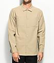 Fairplay Caldera Tan Button Up Long Sleeve Shirt