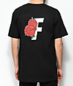 Fairplay Roses Black T-Shirt