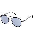 Fiasco Round Brow Bar Matte Black Sunglasses