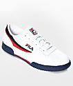 Fila Original Fitness zapatos en blanco y azul marino