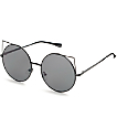 Flat Cat gafas de sol redondeadas en negro