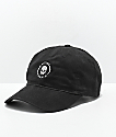 Flying Coffin Shock Logo Black Strapback Hat