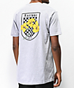 Fortune Checkered Lily camiseta gris