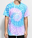 Fourstar Skate Pirate Blue & Purple Tie Dye T-Shirt