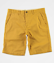 Free World Discord Dark Yellow Chino Shorts