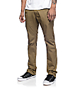 Free World Drifter pantalones chinos caquis oscuros