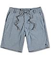 Free World Glassy Blue Stretch Hybrid Shorts