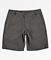 Free World Glassy Charcoal Stretch Hybrid Board Shorts