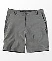 Free World Glassy Charcoal Stretch Hybrid Shorts