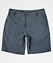 Free World Glassy Stretch Heather Blue Hybrid Shorts