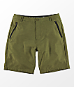 Free World Maverick Dark Green Hybrid Shorts