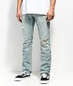 Free World Messenger Westport jeans ajustados desgastados