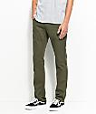 Free World Messenger pantalones asargados en verde olivo