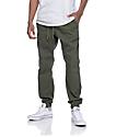 Free World Remy pantalones joggers en color verde olivo