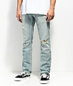 Freeworld Messenger Westport Distressed Skinny Stretch Jeans