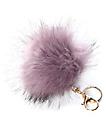 Fuzzy colgante para bolso de pelo en color lavanda