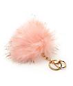 Fuzzy colgante para bolso de pelo rosa