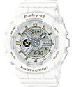 G-Shock Baby-G BA110GA-7A1 reloj dorado acentuado en blanco