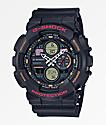 G-Shock GA140-1A4 Black & Retro Orange Watch