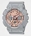G-Shock GMAS120 Grey, Pink & Rose Gold Watch