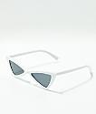 Gafas de sol blancas de triangulo