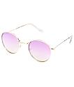 Gafas de sol espejos en color oro rosa
