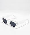 Gafas de sol redondas transparentes y grises