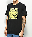 Gangster Doodles Book Mark Black T-Shirt