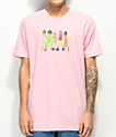 Gangster Doodles Spicy Blossom Pink T-Shirt