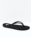 Gigi Bon Voyage Black Thong Sandals
