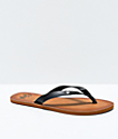 Gigi Breeze Black Thong Sandals