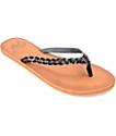 Gigi Butterfly Black Sandals
