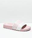 Gigi Laurel Pink & White Slide Sandals