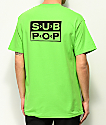 Girl  x Sub Pop Logo Lime camiseta verde