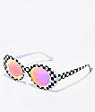 GloFX Clout Kaleidoscope White Checkered Glasses