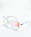 GloFX Heart Kaleidoscope White Glasses