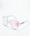 GloFX Heart Kaleidoscope gafas blancas