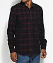 Globe Burgundy & Black Corduroy Flannel Shirt