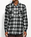 Globe Flanigan Black & Grey Flannel Shirt