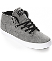 Globe Motley Mid Black & White Chambray Skate Shoes