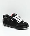 Globe Sabre zapatos skate en negro y rojo
