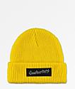 Gnarhunters gorro amarillo con logotipo grande
