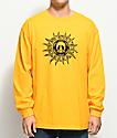 Gnarly Aztec Sun Mustard Long Sleeve T-Shirt