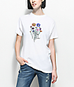 Gnarly Bouquet camiseta blanca