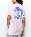 Gnarly Peace Palm Pink T-Shirt