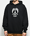 Gnarly Rewind Peace Tree Black Hoodie