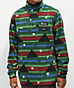 Gnarly Vagabond Boulder Print Fleece Sweatshirt