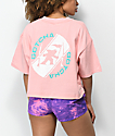 Gotcha Circle Pink Crop T-Shirt