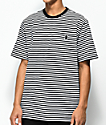 Grizzly Columbia Black & White Striped Pocket T-Shirt