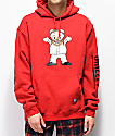 Grizzly Lil M Red Hoodie